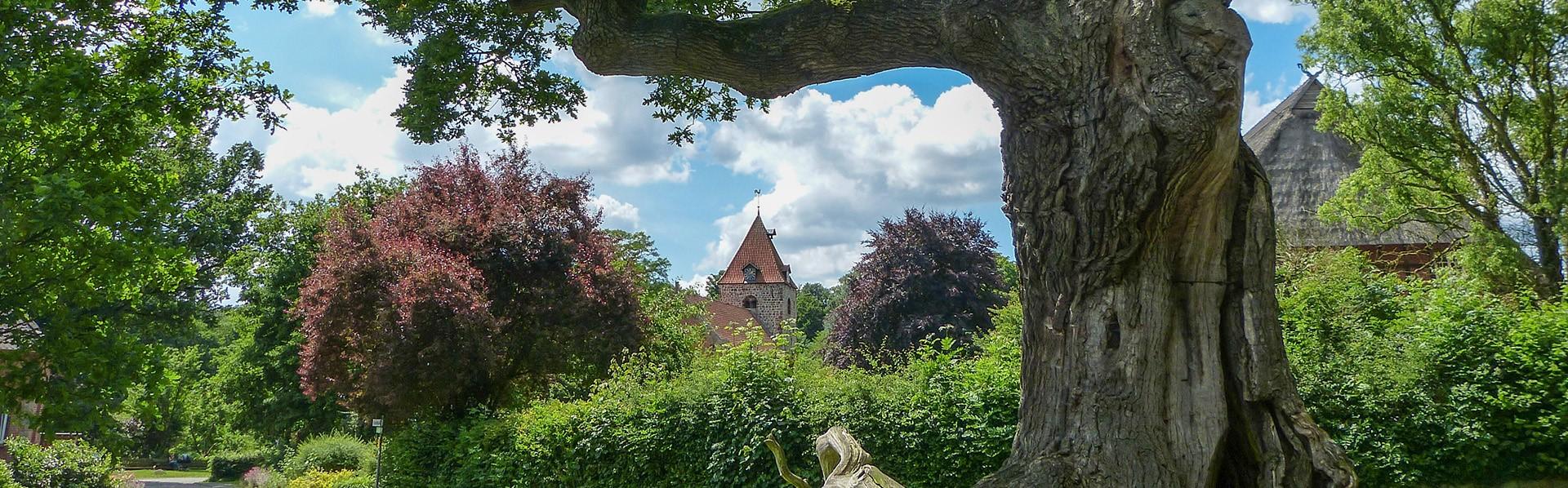 Banner Eiche und Kirche